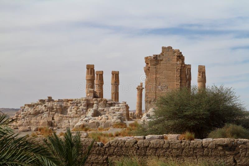 Amenophis świątynne ruiny Soleb w Sudan zdjęcia royalty free