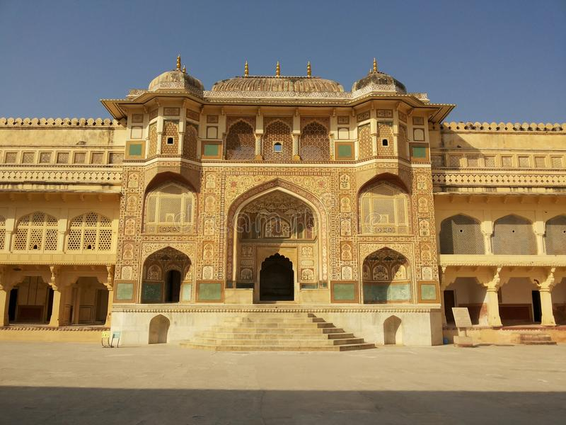 Amer οχυρό μέσα, Amer, Jaipur στοκ φωτογραφία
