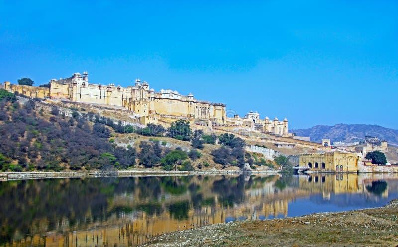 Amer Amber-fort, Jaipur, Rajasthan, India stock foto's