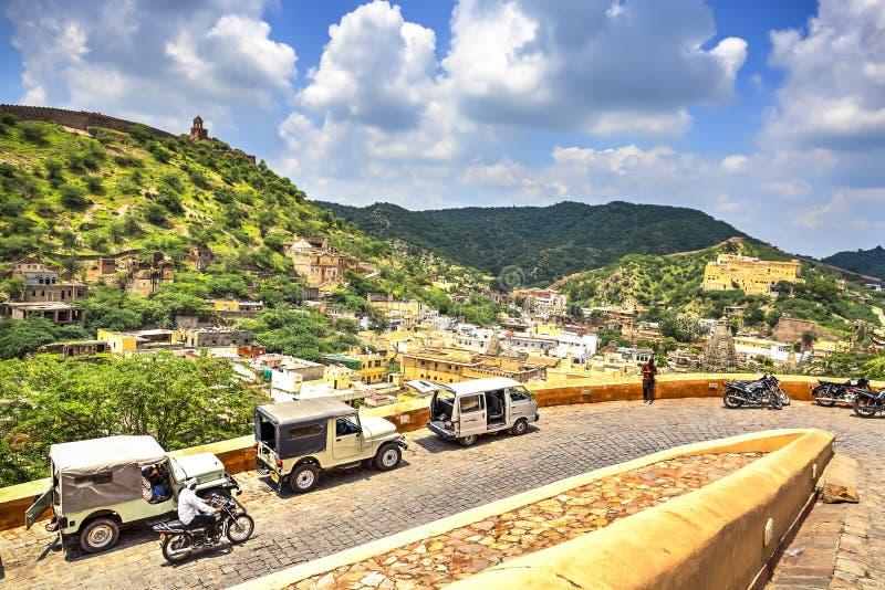 Amer eller bärnstensfärgat fort, Rajasthan, Indien royaltyfri foto