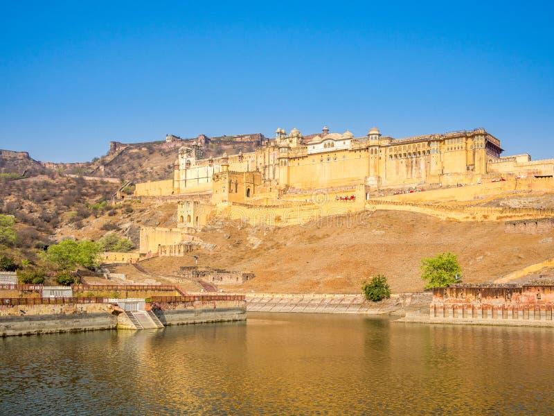 Amer Fort i Jaipur arkivbild