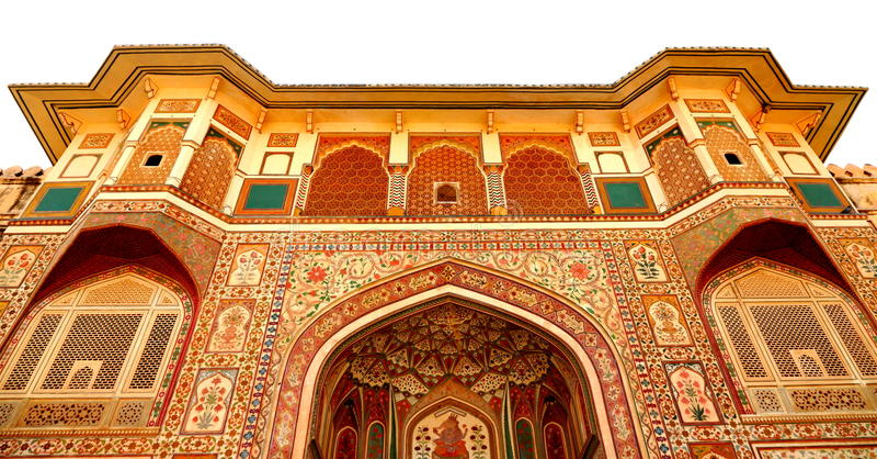 Amer Fort, Jaipur - a bird eye view royalty free stock image