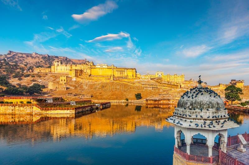 Amer Fort Rajasthan, Indien arkivfoto