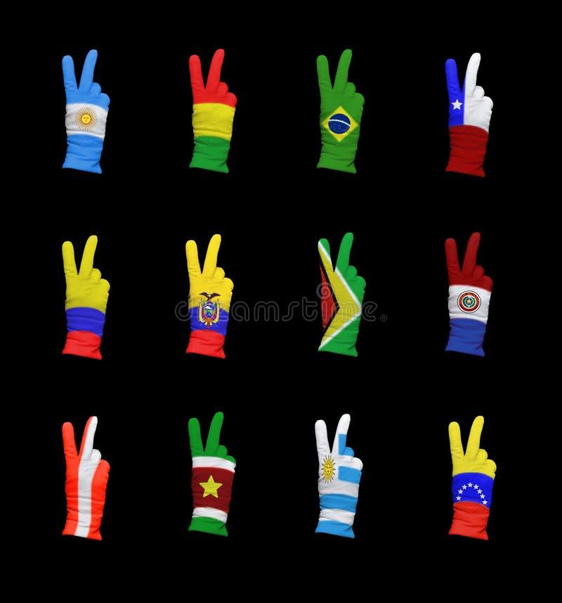 AmerakiXX Południowej flaga fotografia stock