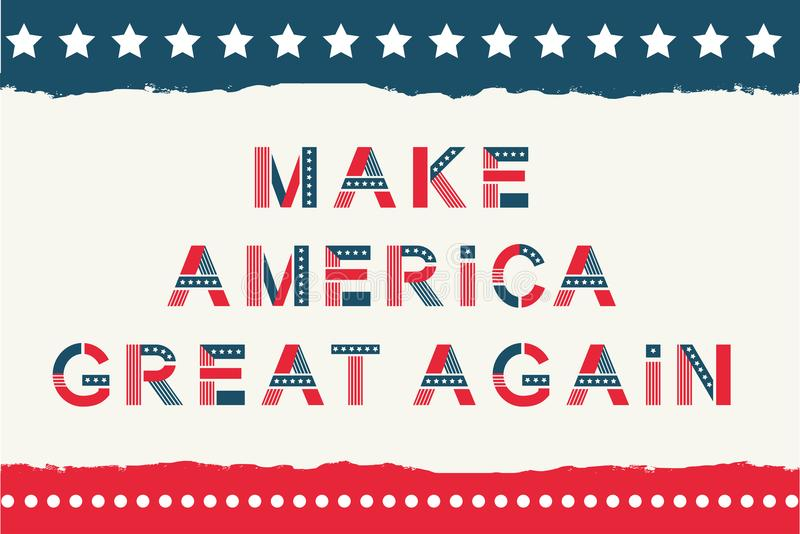 America alphabet set stock illustration