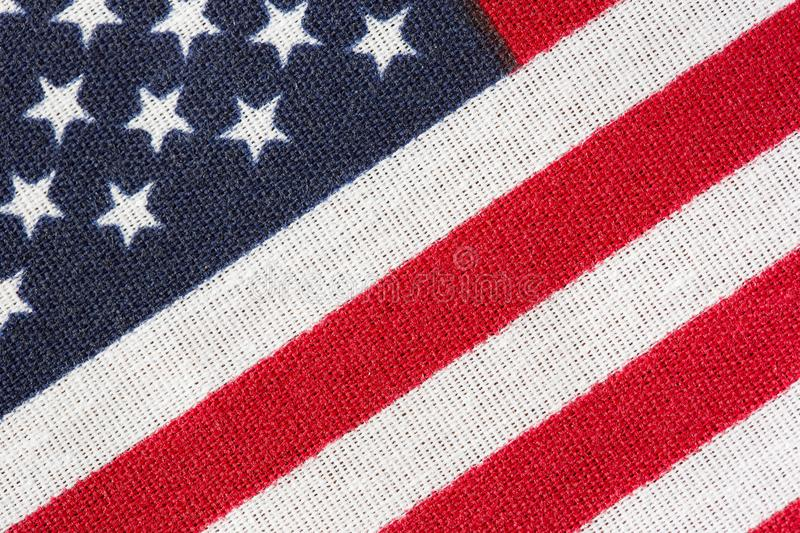 America, American Flag, Stars and Stripes close up. America. America Flag. Frame filling shot of American flag. July 4th inspired American flag photo. Star stock image