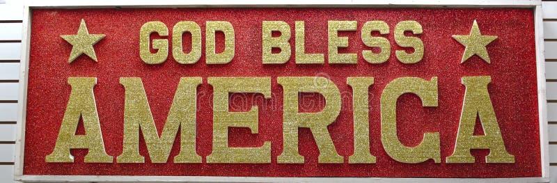 america billboard błogosławi bóg obrazy stock
