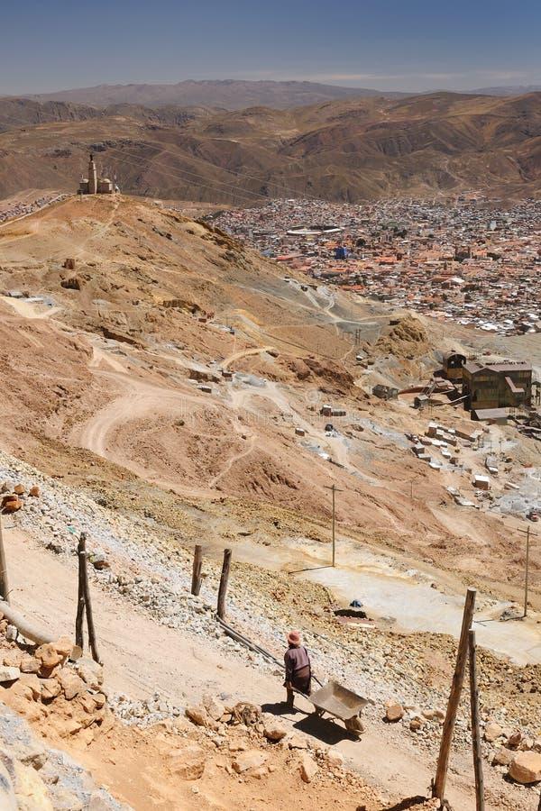 America - Bolivia, Potosi, miners working royalty free stock image