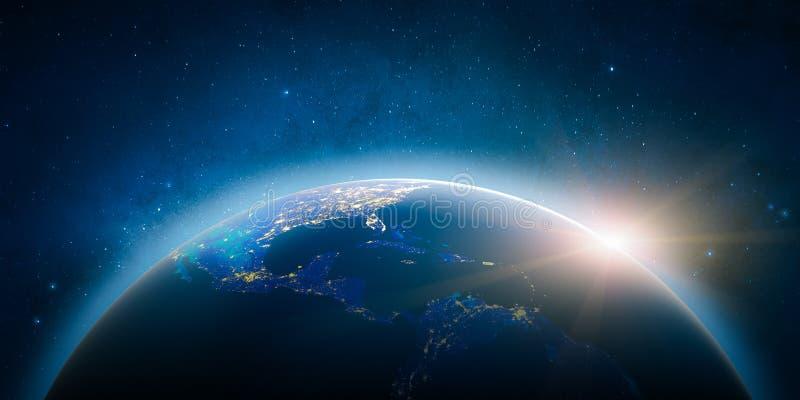 America Central Elementos de esta imagen equipados por la NASA stock de ilustración