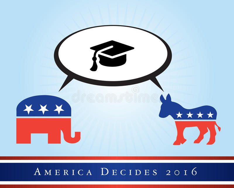 America 2016 elections royalty free stock photography