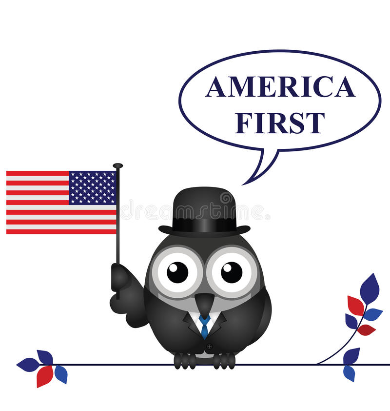 America First pledge. America First presidential inauguration pledge isolated on white background vector illustration