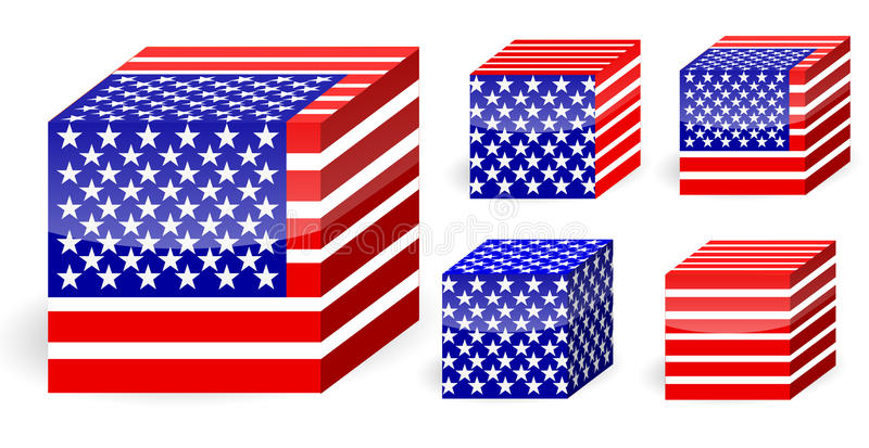 Download America Flag Cube Stock Photos - Image: 20415773