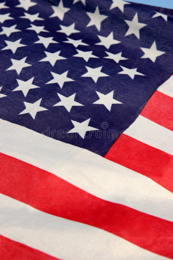 America flag, USA. Details of America flag, USA royalty free stock images