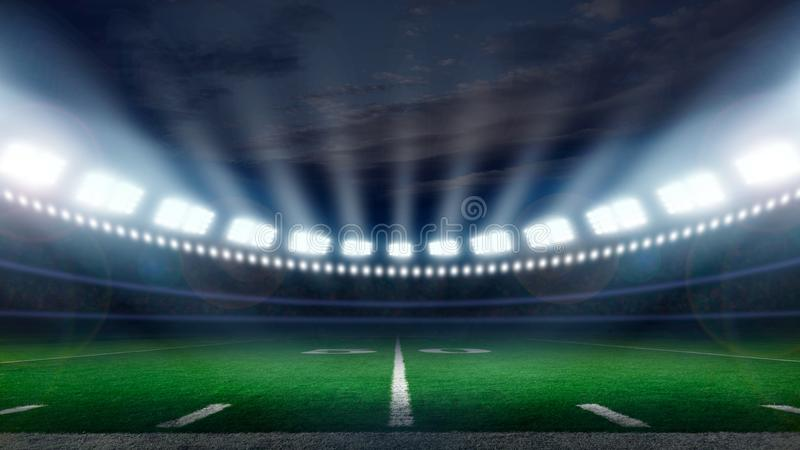 America football stadium stock images