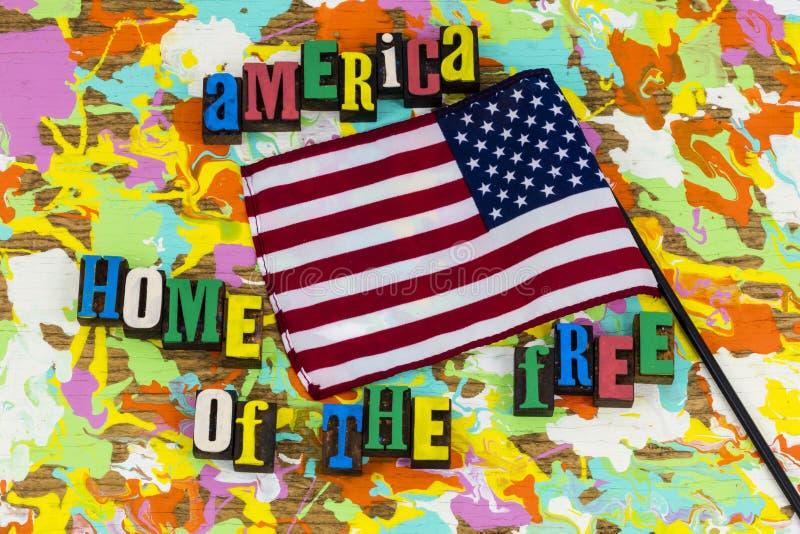 America Land Of Brave Stock Image Image Of Letter Stripes 125059745