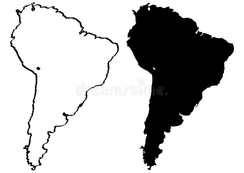 america ilustracyjni mapy południe royalty ilustracja