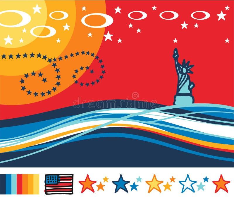 america krajobraz ilustracja wektor