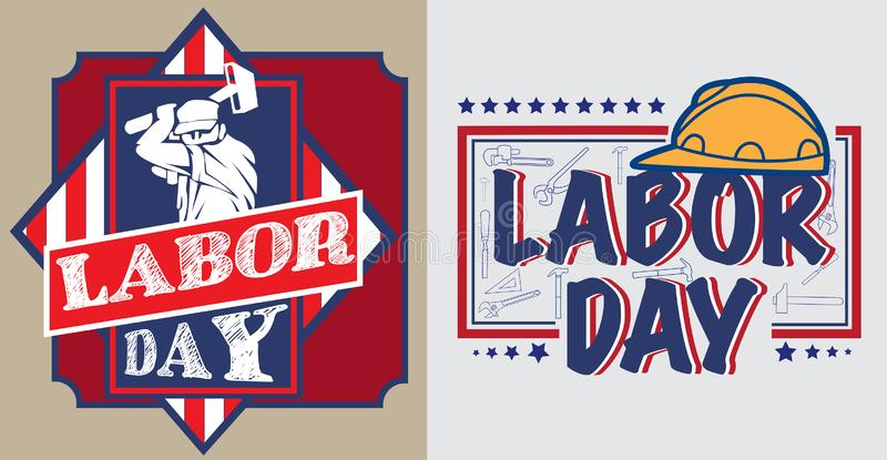 America Labor day poster stock image