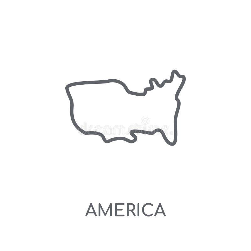 America linear icon. Modern outline America logo concept on whit stock illustration