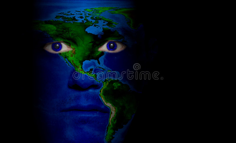 America Map - Male Face royalty free stock images