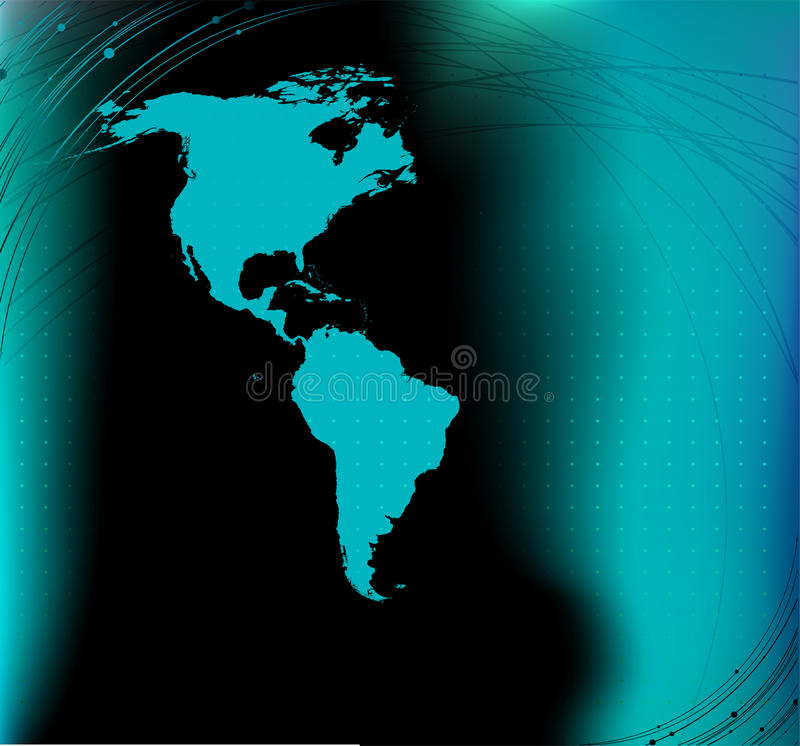 Download America map silhouette stock vector. Image of layout - 14876473