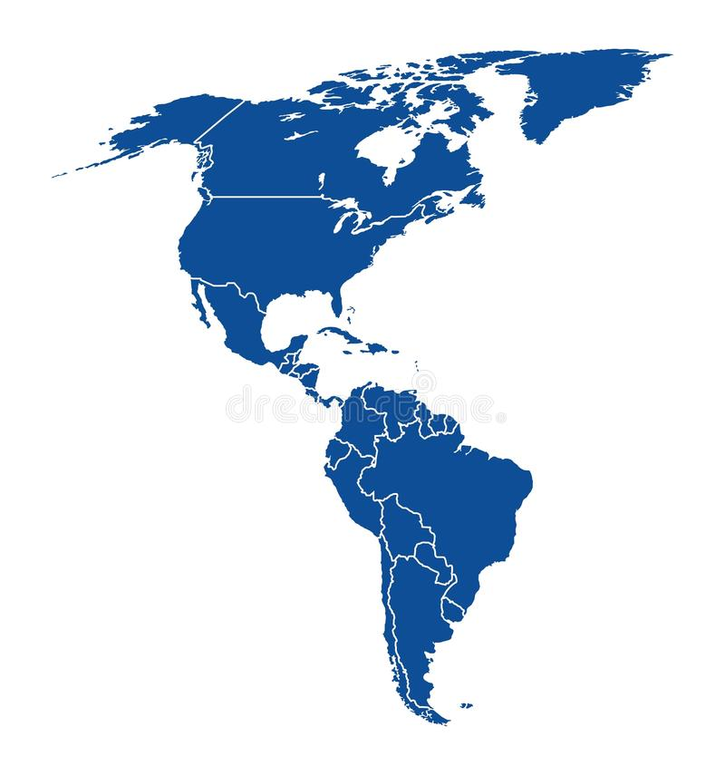 america mapa ilustracji