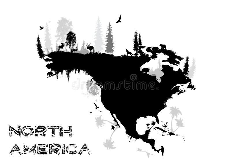 america północ royalty ilustracja