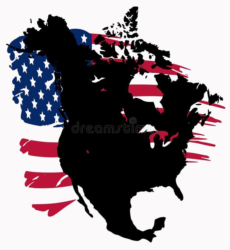 america północ ilustracja wektor
