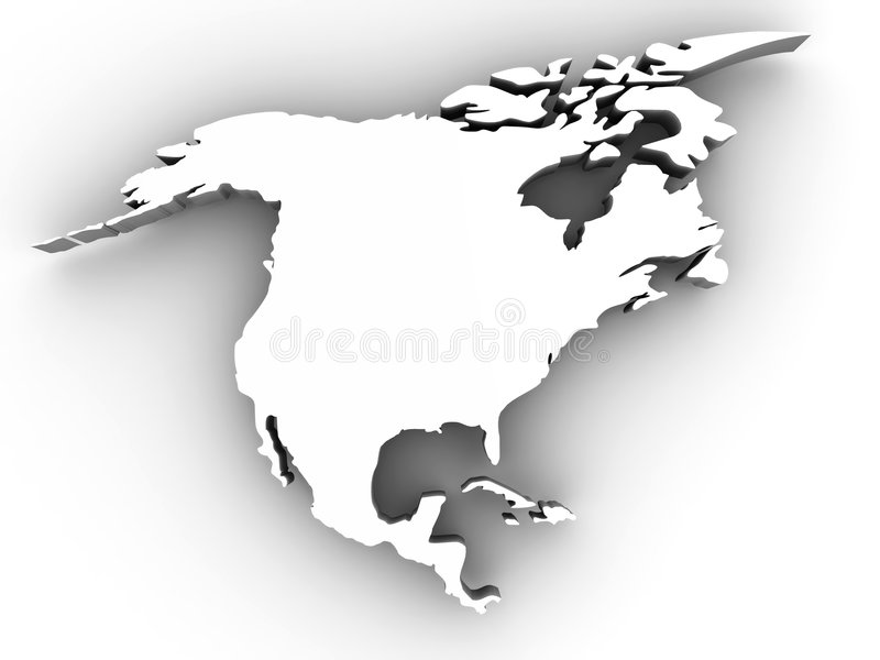 america północny ilustracji