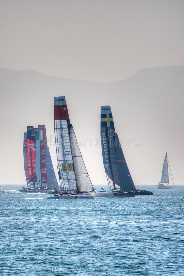 Americas Cup World Series 2013 race stock photography