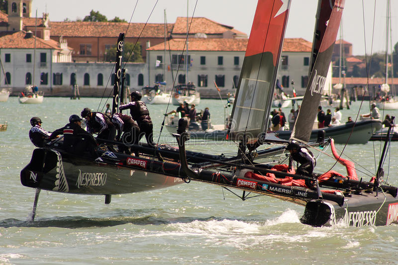 America's Cup World Series in Venice. The America's Cup World Series is a regular circuit of regattas, bringing Cup racing to top venues around the world. The AC royalty free stock images