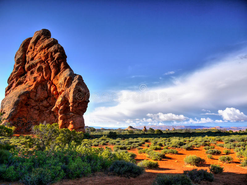 America Southwest Landscape. Amazing rock formations of the American Southwest. Desert landscape in Utah stock image