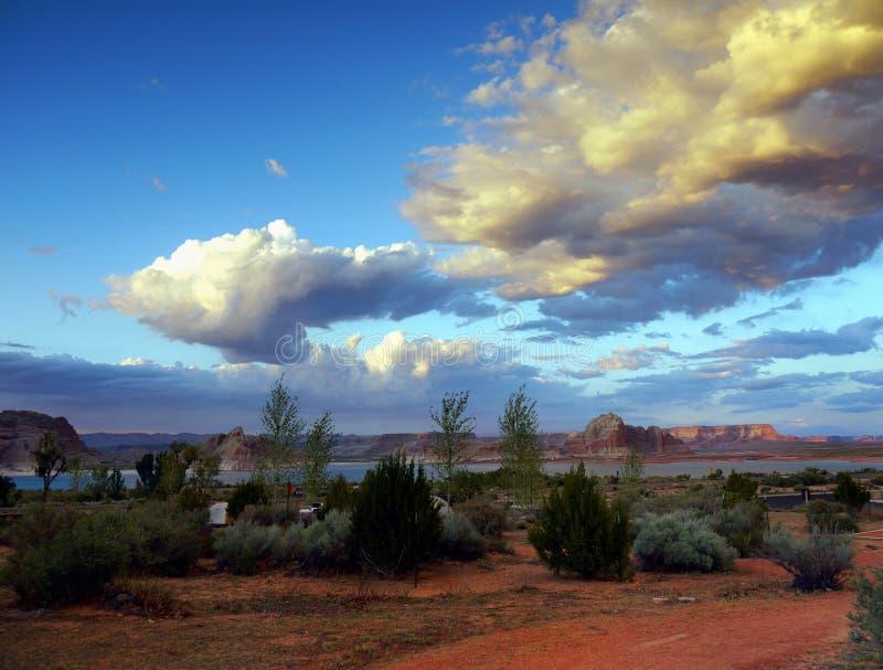 America Southwest Landscape. Amazing rock formations of the American Southwest. Desert landscape in Utah royalty free stock images