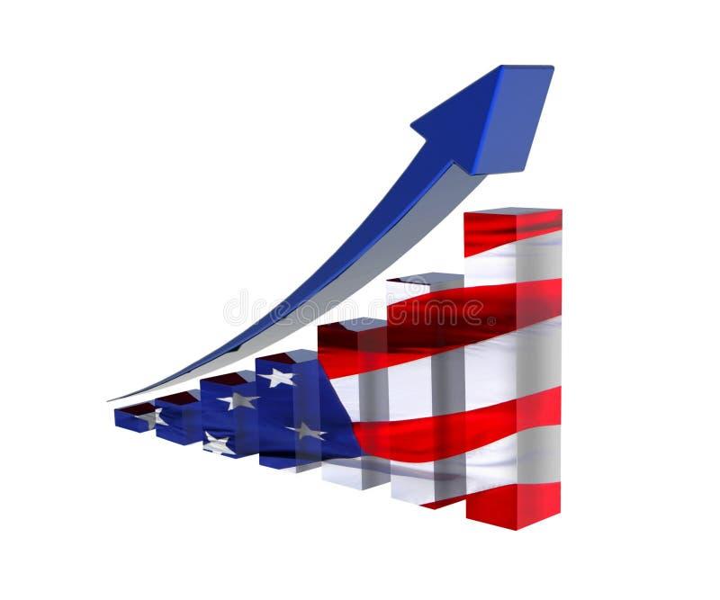 America Statistic royalty free illustration