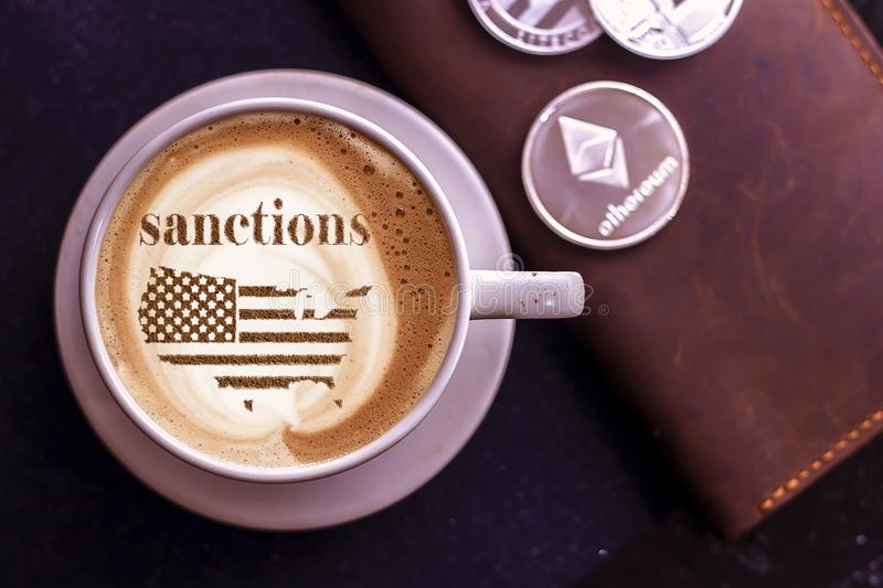 America threatens sanctions. America threatens with imposing economic sanctions for not meeting the conditions royalty free stock photography