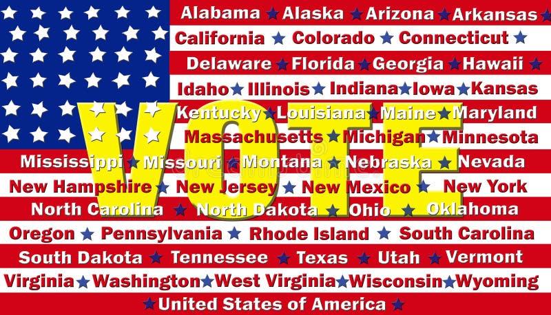 America Votes royalty free illustration