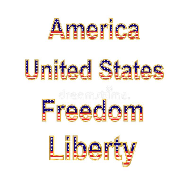 Download America Words stock illustration. Image of veterans, memorial - 24424301