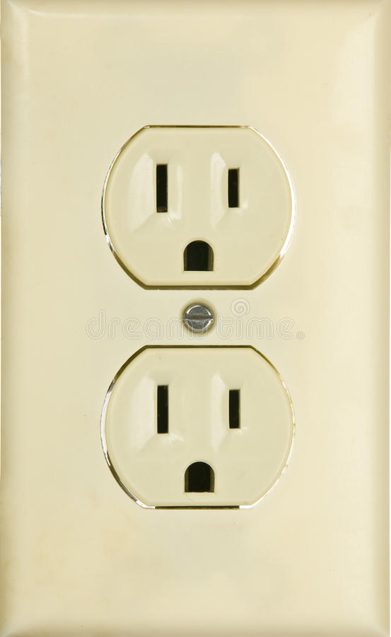 An American 110 Volt Three Prong Electrical Power Stock Image ...