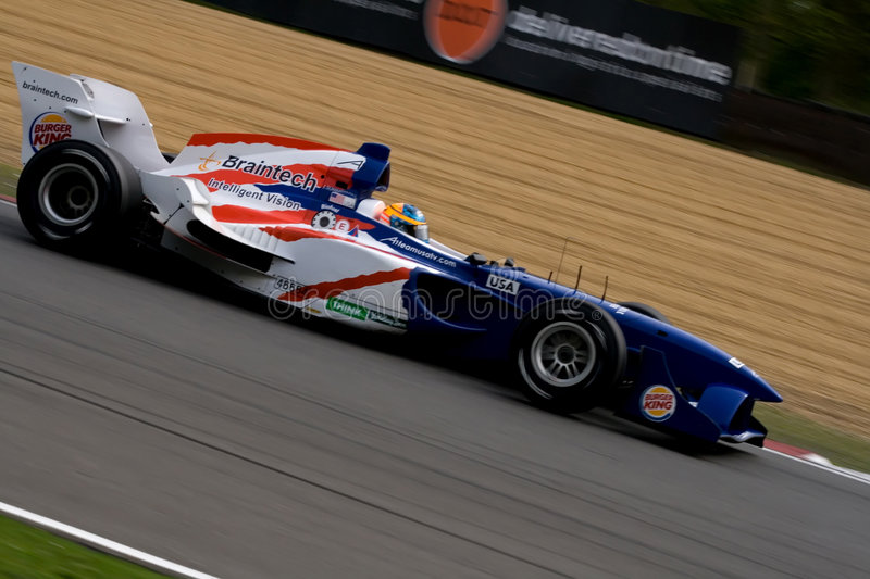 American a1 gp race car. On track royalty free stock photo
