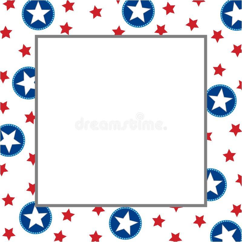 American star symbol frame border. royalty free stock photo