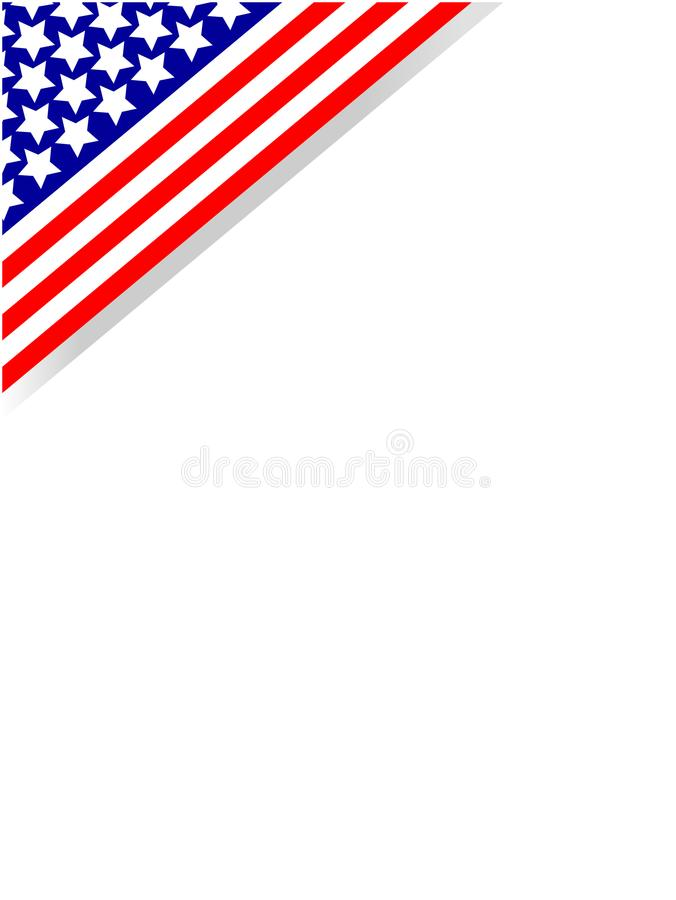 American Flag Frame Corner With Empty Space For Your Text. Stock ...