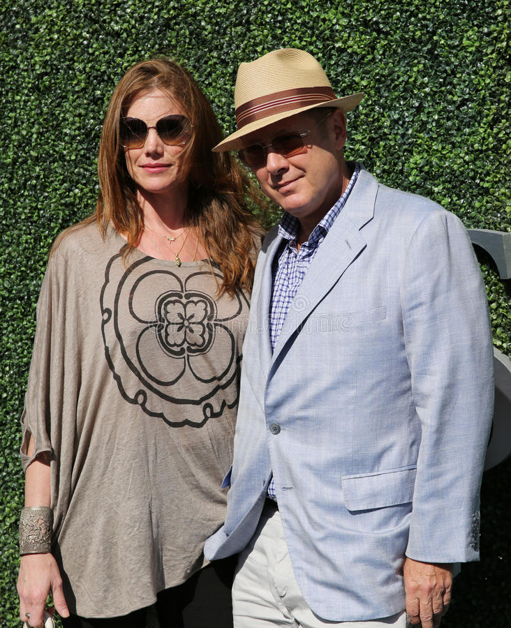 American actor James Spader with his wife Leslie Stefanson at the red carpet before US Open 2016 men`s final match. NEW YORK - SEPTEMBER 11, 2016: American actor royalty free stock photos