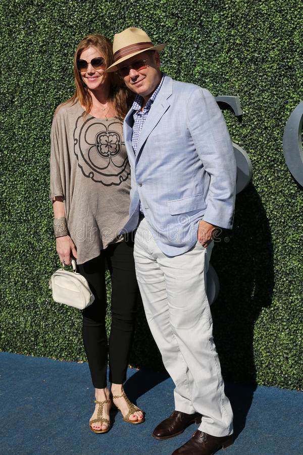 American actor James Spader with his wife Leslie Stefanson at the red carpet before US Open 2016 men`s final match. NEW YORK - SEPTEMBER 11, 2016: American actor royalty free stock images