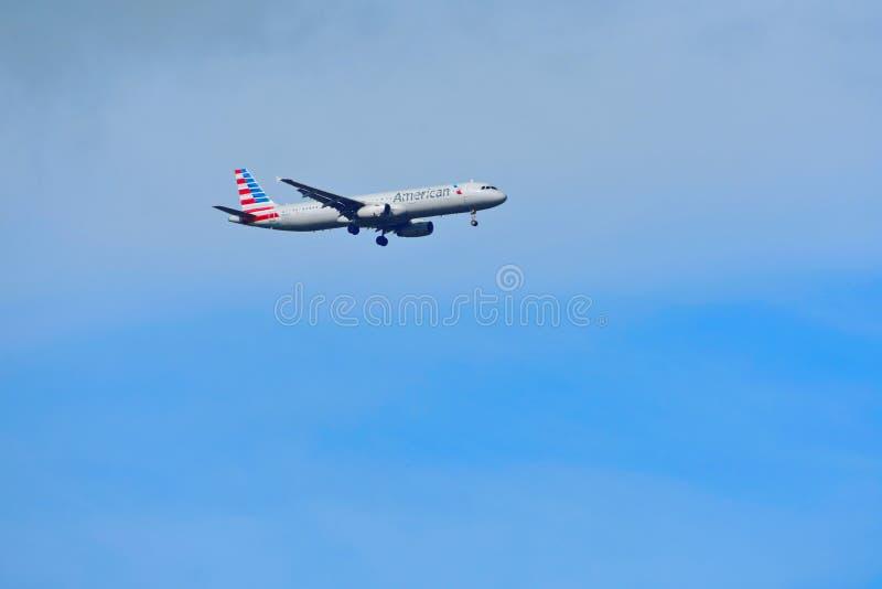American Airlines é a linha aérea a maior do mundo foto de stock