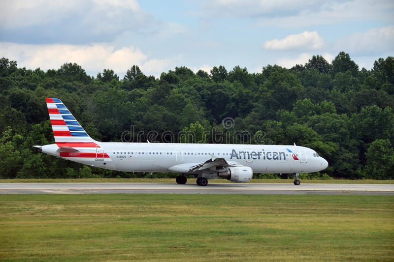 American Airlines Airbus A 321 Editorial Photography
