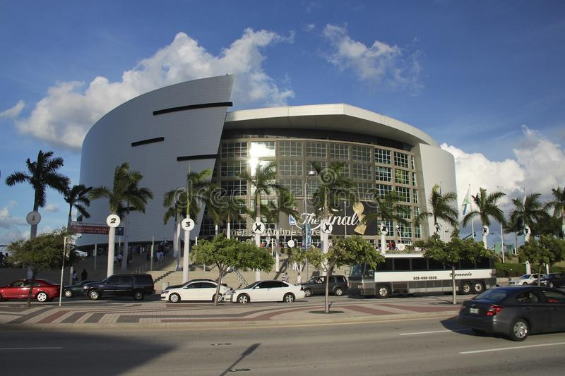 American airlines arena, Home of Miami Heat. American Airlines arena from Miami royalty free stock photography