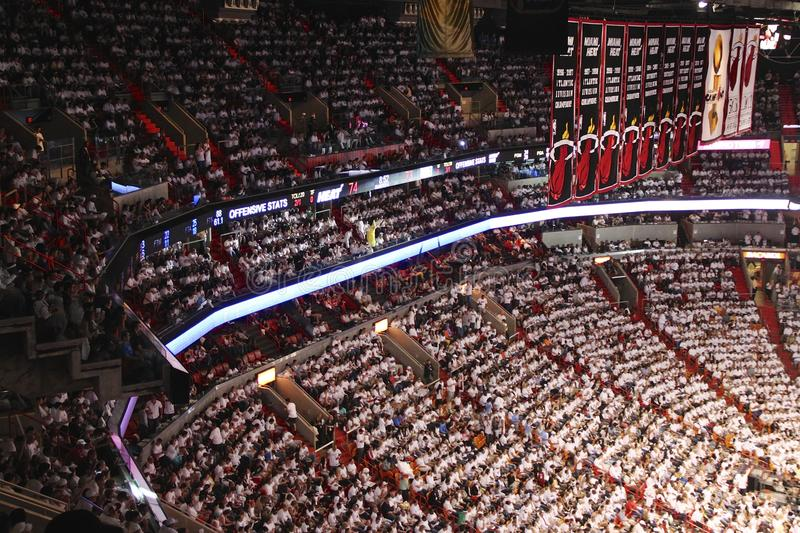 American airlines arena, Home of Miami Heat. American Airlines arena from Miami stock photography