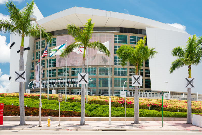 The American Airlines Arena, home of the Miami Heat royalty free stock photos