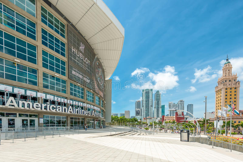 The American Airlines Arena, home of the Miami Heat royalty free stock image