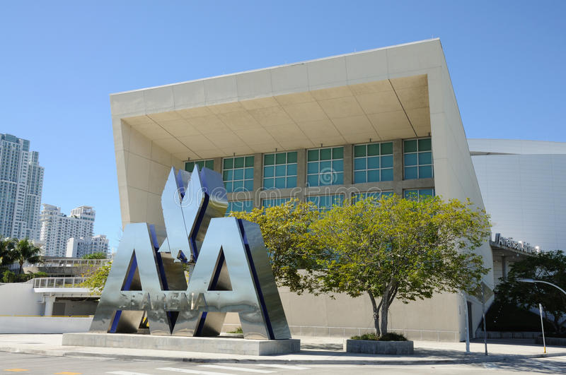 American Airlines Arena, Miami royalty free stock images